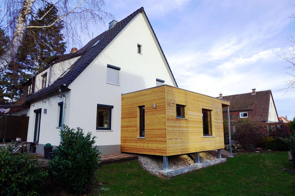 neubau eines anbaus an ein bestehendes wohnhaus holzbau keilholz. Black Bedroom Furniture Sets. Home Design Ideas
